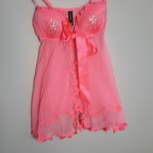 Victoria Secret hot pink chemise 34B